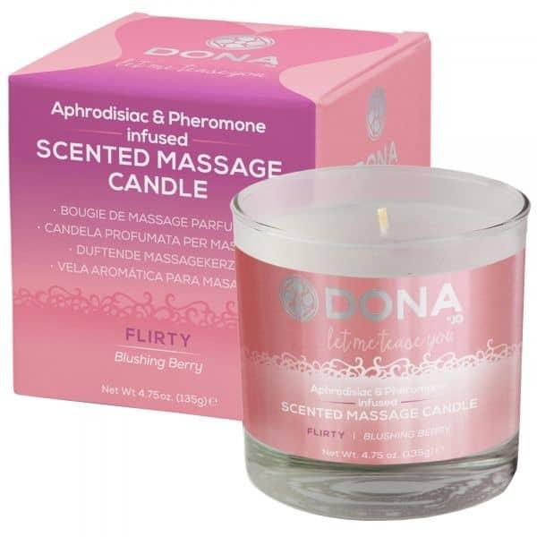 Dona scented massage candle  - flirty