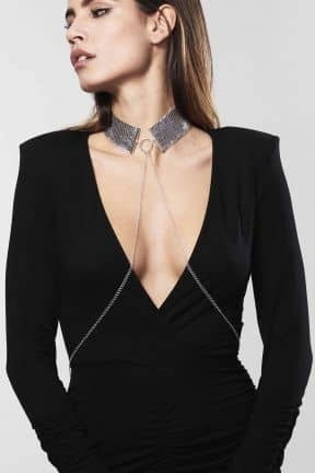 Body jevellery Desir Metallique Collar Silver