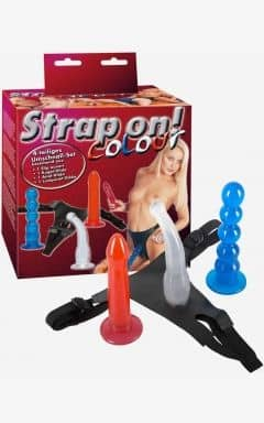 Strapon dildos Strap-On Color 4-piece strap-on