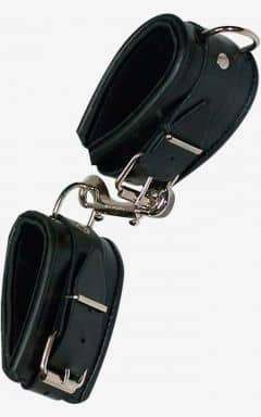 Handcuffs and binding Leather Cuffs Padded