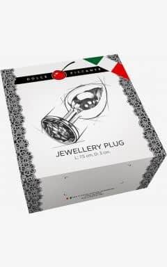 Butt Plugs Jewellery S Silver/Blue 3 cm