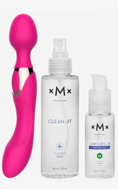 Love Kits Rechargable Bodywand - med glid & rengöring