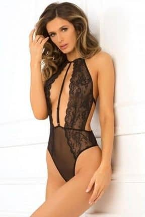René Rofé Hot Pursuit Lace Bodysuit