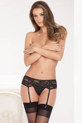 Tights & Stay-ups Lace Garter Belt Black S/M
