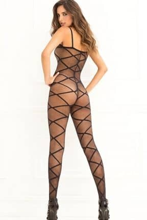 Strapped Up Sheer Bodystocking OS