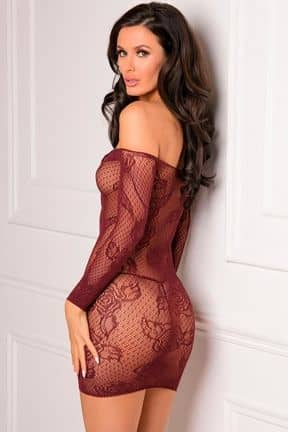 Sexy Dresses Tie Breaker Long Sleeve Dress Red OS