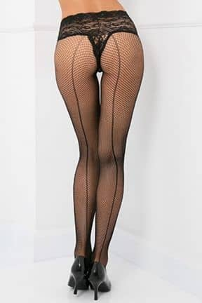 Tights & Stay-ups Lace Top Fishnet Pantyhose OS