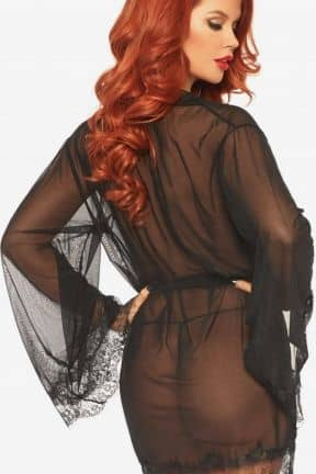 Sexy Dresses Sheer Robe with Flared Sleeves M/L