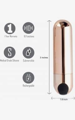 Mini Vibrators Power Bullet Jessi - Rose Gold