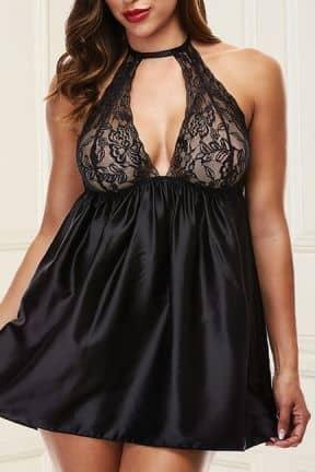 Sexy Dresses Baci - Sexy Lace Babydoll Set Black S/M
