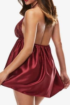 Sexy Dresses Baci - Sexy Lace Babydoll Set Red M/L
