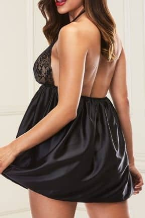 Sexy Dresses Baci - Sexy Lace Babydoll Set Black