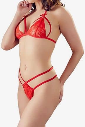 Sexy sets Lace Set Red M