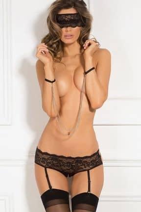 Sexy sets 3pc Crotchless Panty & Mask Set