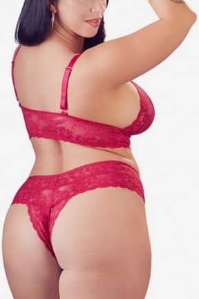 Sexy sets Diva Lace Set Red 2XL