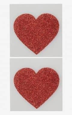 Body jevellery Nipple Sticker Heart Red