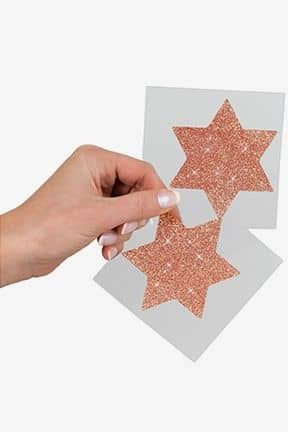 Body jevellery Nipple Sticker Star Copper