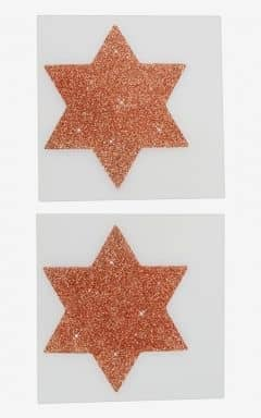 Body jevellery Nipple Sticker Star Copper