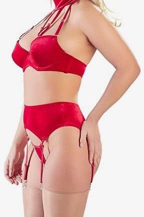 Sexy sets Velvet Suspender Set