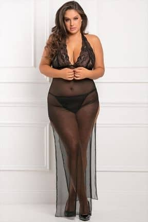 Plus Size All Out There 2pc Gown Set 2XL