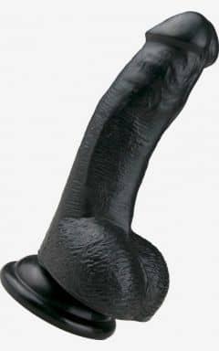 Dildo with Suction Realistic Dildo Black 15 cm