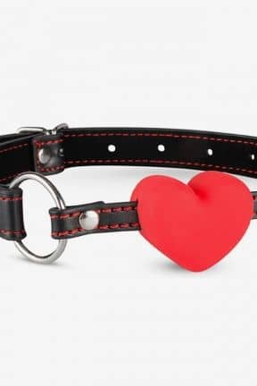 Ball Gags Heart Ball Gag - Black/Red