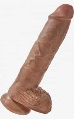 Classic Dildos King Cock 10inch Cock With Balls Tan