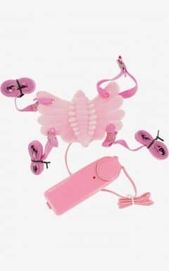 Clitoral Vibratos Butterfly Massager Strap-On Vibrator Pink