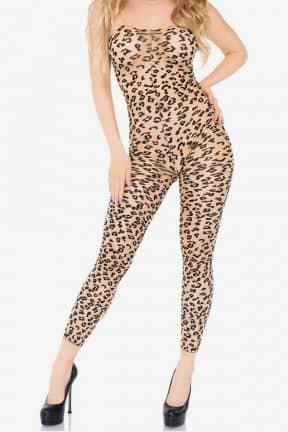 Sexy Underwear Bodystocking Footless Leopard S/M