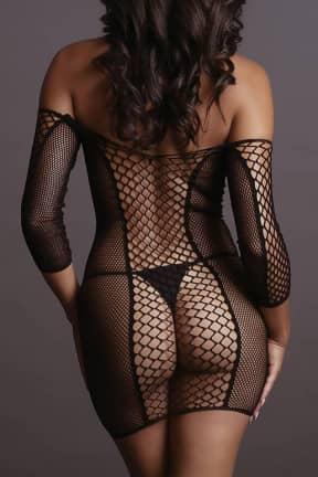 Sexy Underwear Le Désir - Net Sleeved Mini Dress OS