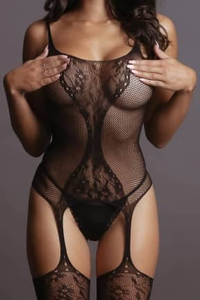 Sexy Underwear Le Désir - Fishnet & Lace Bodystocking OS