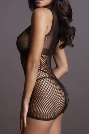 Sexy Underwear Le Désir - Net Open Cup Mini Dress OS