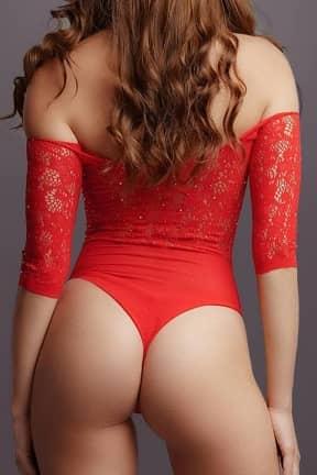 Sexy Underwear Le Désir - Crotchless Rhinestone Teddy OS