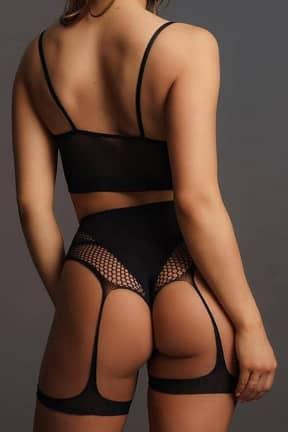 Sexy Underwear Le Désir 2PC Bra set with garters Black