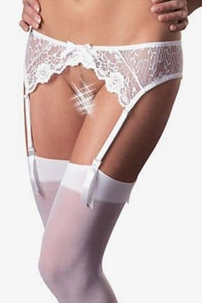 Tights & Stay-ups Stockingset S/M, vit spets, Mandy Mystery line