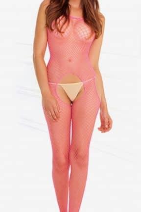 Catsuits & Bodys Rosa catsuit med öppningar