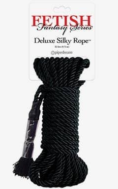 Handcuffs and binding Japanese Silk Rope - Svart